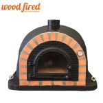 BLACK PRO-DELUXE CAST DOOR  WOOD FIRED PIZZA OVEN 90CM-100CM ORANGE ARCH
